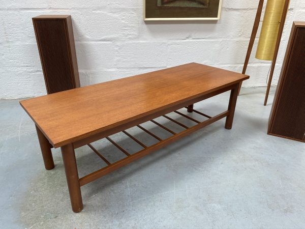Vintage Low Coffee Table with Laddered Magazine Rack