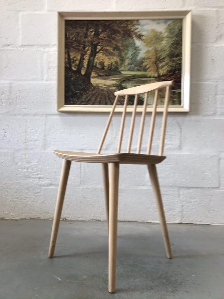 Single Danish J77 Chair Originally Designed by Volther