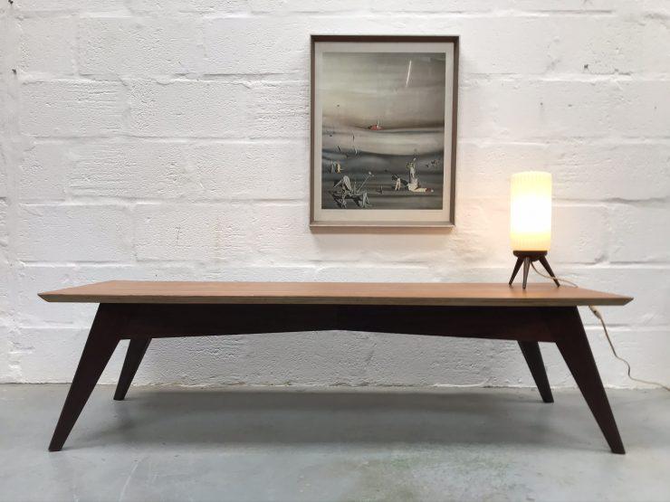 Mid Century 1960s Rectangular Low Coffee Table