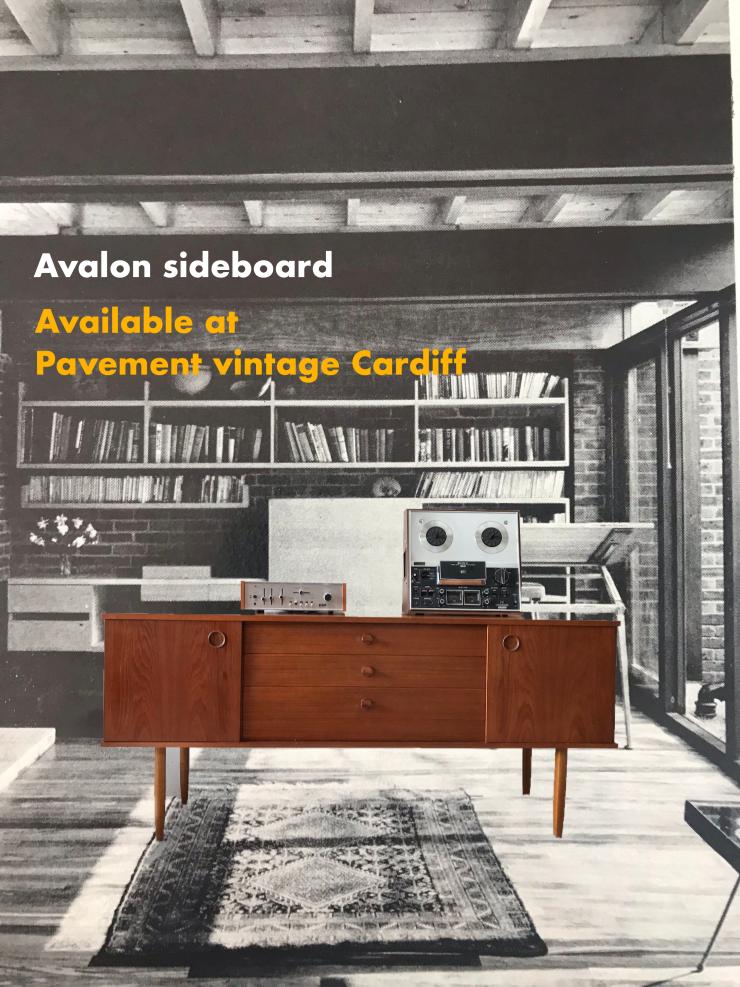 Mid Century 1960s Teak Sideboard by Avalon