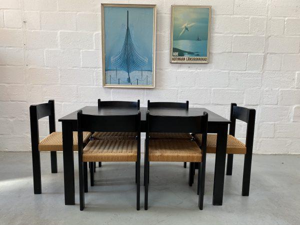 Vintage Retro Late 20th Century Habitat Dining Table & 6 Chairs