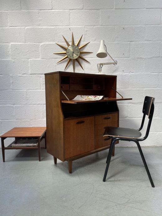 Mid Century JENTIQUE Bureau Desk Drawers Vintage