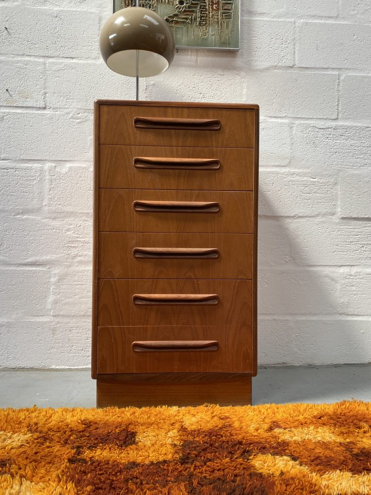 Vintage Classic G Plan 'Fresco' Tallboy / Chest of Drawers