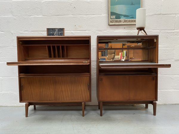 Vintage 1960s Teak Drinks Cabinet & Bureau by Robert Heritage for Beaver Tapley