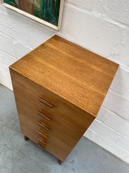 Vintage 1960s G Plan Teak Quadrille 'Tallboy' Chest of Drawers