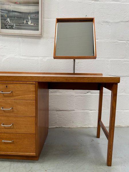 Retro Papworth Industry / Ex Mod Teak Dressing Table / Desk 1970s
