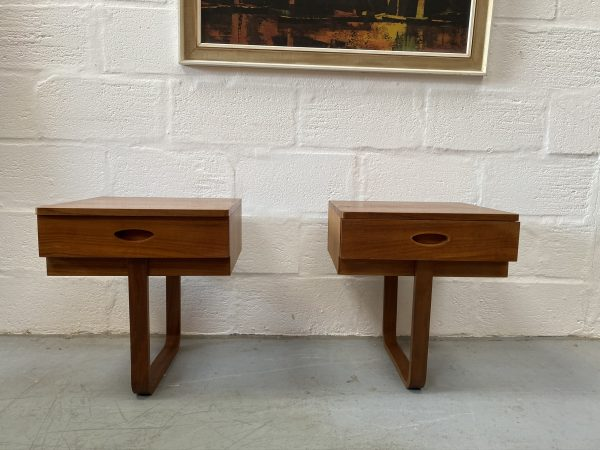 Vintage 1960s Uniflex Headboard and Bedside Cabinets by Gunther Hoffstead