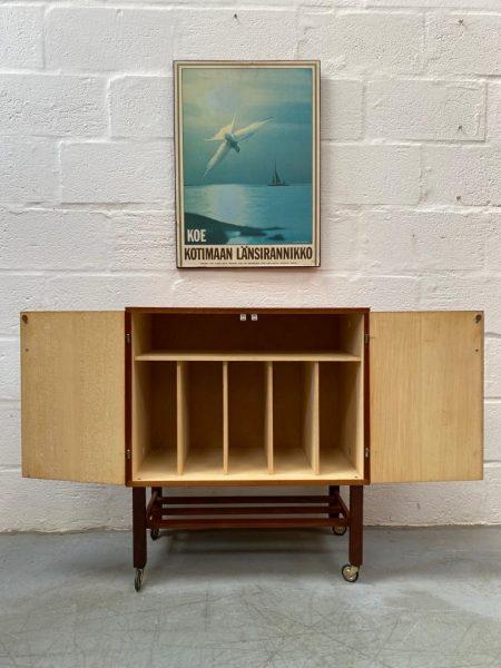 Mid Century 1960s Vinyl Record Cabinet