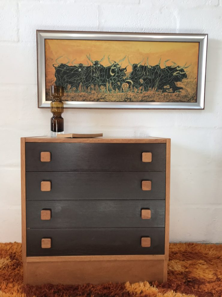 Danish Vintage Teak Chest of Drawers by Domino Mobler