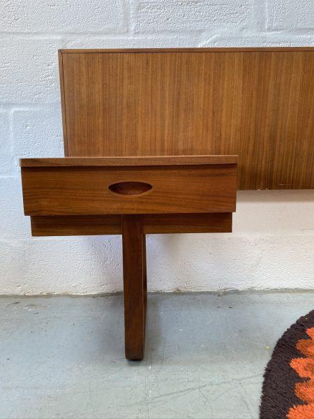 1960s Vintage Uniflex Headboard and Bedside Cabinets by Gunther Hoffstead