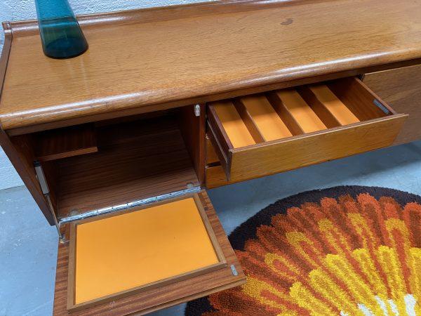 Vintage Mid Century White & Newton Teak Sideboard
