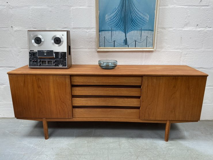 Sleek Mid Century Teak Sideboard by VANSON for Heals