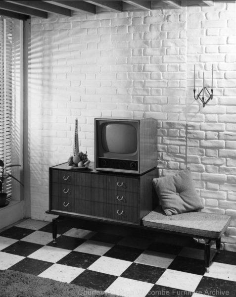 1960s Mid Century G Plan 'Modular' Tola Unit Bench / Chest of Three Drawers
