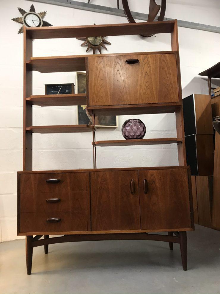 Mid Century 1960s Vintage G Plan 'Brasilia' Range Teak Room Divider / Bookcase