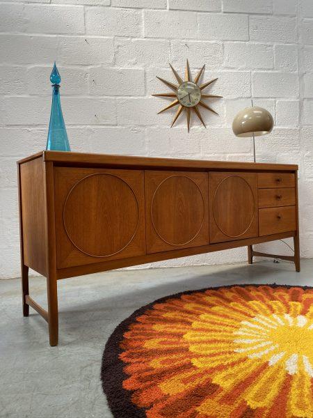 1960s Teak 'Circles' Sideboard Manufactured by Nathan Furniture