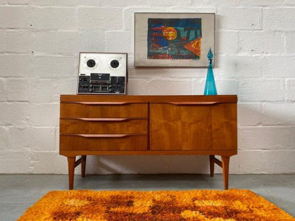 Vintage Teak Small Sideboard by Elliots of Newbury
