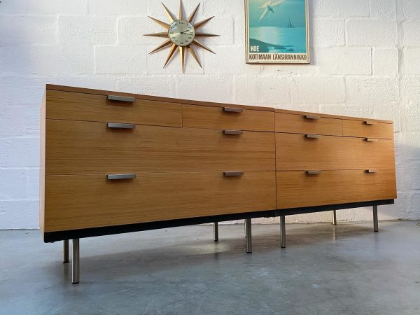 Pair of Mid Century 1960s Stag 'Fineline' Chest of Drawers by John & Slyvia Reid
