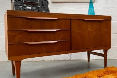 Vintage Teak Small Sideboard by Elliots of Newbury