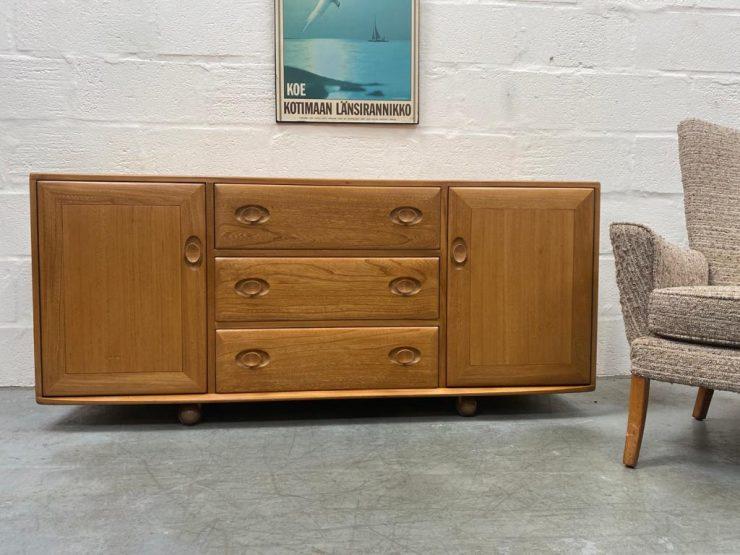 Mid Century Vintage Ercol 455 Blonde Sideboard