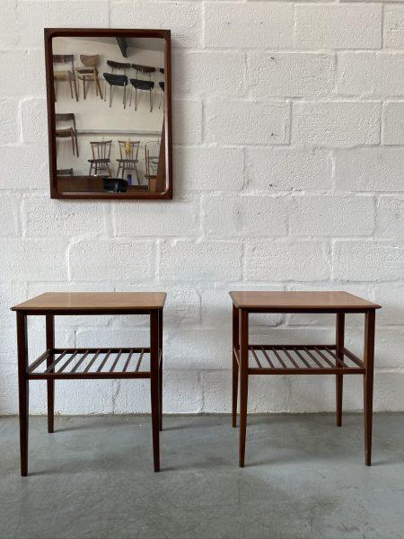 Pair of Vintage Teak Fyne Ladye of Bambury Occasional Tables