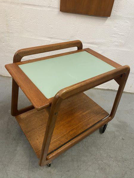 Vintage Danish Teak Tea Trolley by Henning Wind-Hansen for Sika Møbler, 1960s