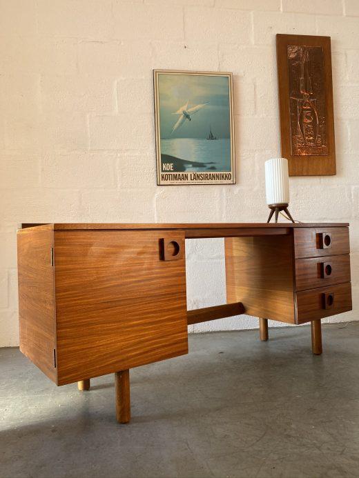 Retro Vintage Uniflex Teak Dressing Table / Desk