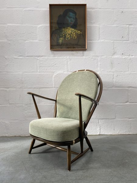Vintage Mid Century 1960s ERCOL Grandfather Armchair / Easy Chair