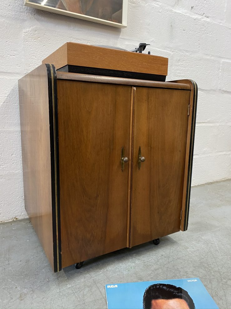 Late Art Deco 1950s Vinyl Record Cabinet