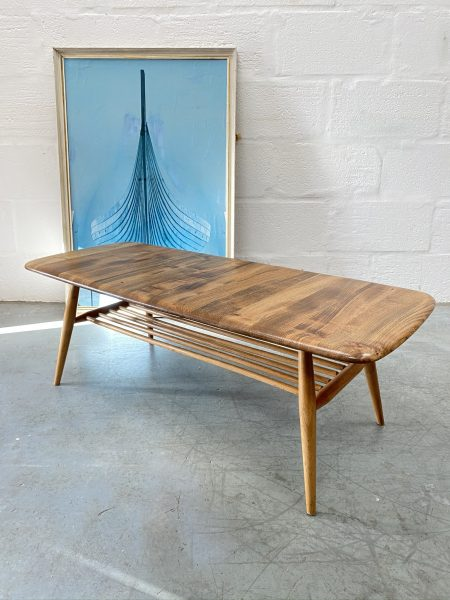 Vintage Mid Century ERCOL Occasional Coffee Table with Magazine Rack