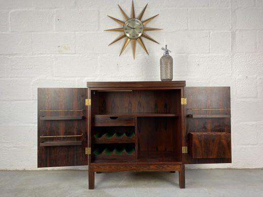 Mid Century 1960s Rosewood Bar Cabinet by Torbjørn Afdal for Bruksbo