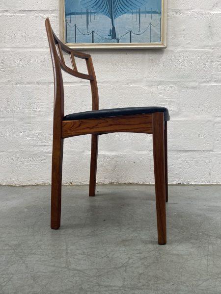 Danish Mid Century Johannes Andersen / Moller Style Dining Chairs x 4