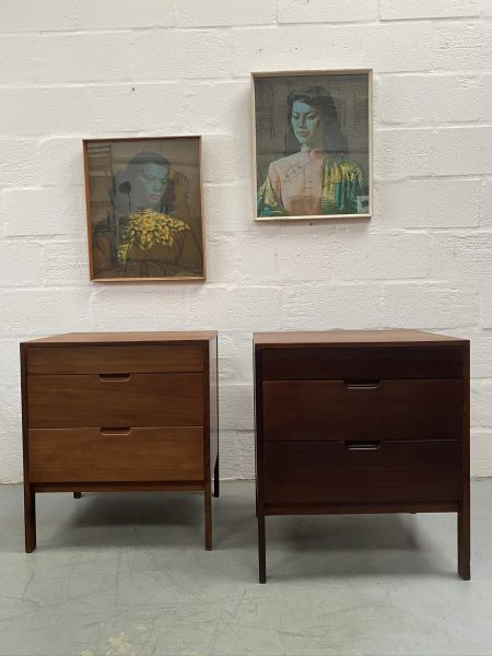 Vintage Pair of Teak Small Chests of Drawers / Bedsides by Richard Hornby