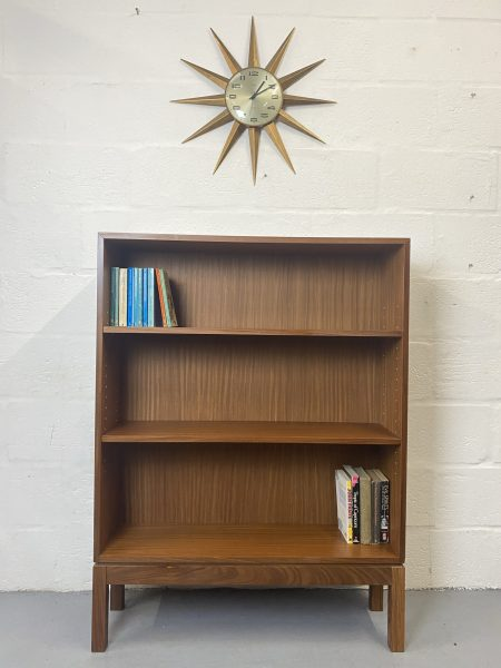 Retro Late 20th Century Broad Arrow Marked Ex Military Teak Bookcase Shelves