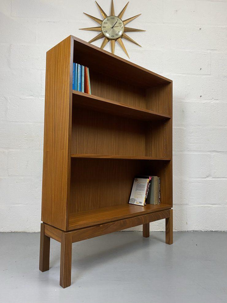 Retro Late 20th Century Broad Arrow Marked Ex Military Teak Bookcase Shelves