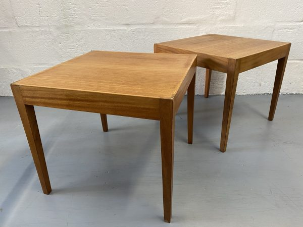 Pair of Heals 1960s Low Coffee Tables / Side Tables by Vanson Vintage Mid Century