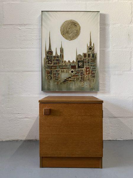 Single Retro Vintage 1960s AVALON Bedside Cabinet / Cupboard