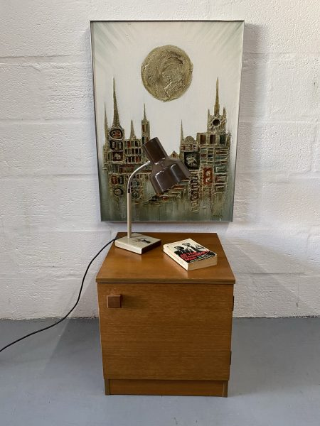 Single Retro Vintage 1960s AVALON Bedside Cabinet / Cupboard