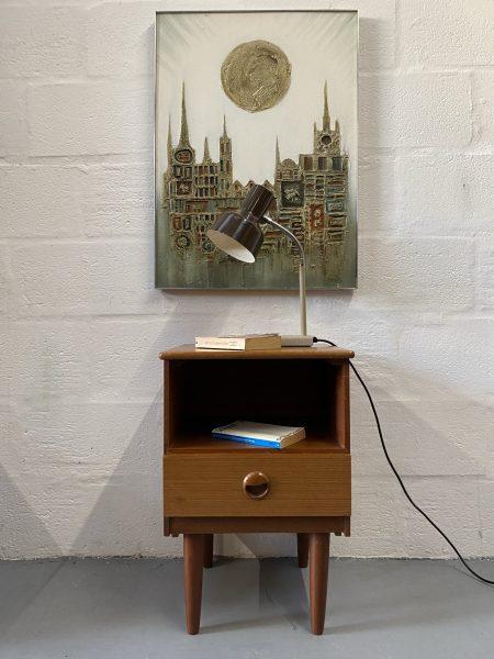 Retro Teak 1960s Bedside Cabinet By Schrieber