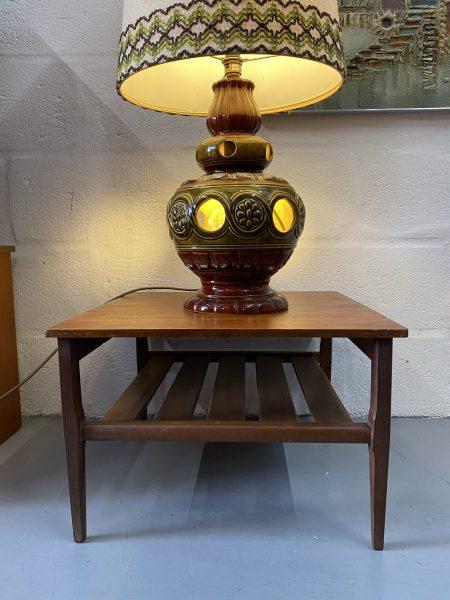 Retro Vintage Square Teak Two Tier Coffee / Side Table