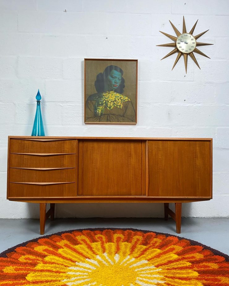 Mid Century Sideboard by E.W. Bach for Sejling Skabe Denmark, 1960s