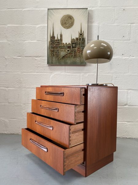 Vintage Retro G Plan Teak Fresco Chest of Four Drawers