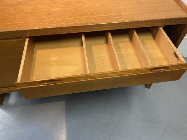 Vintage Mid Century Teak Sideboard / Cabinet by Turnidge of London