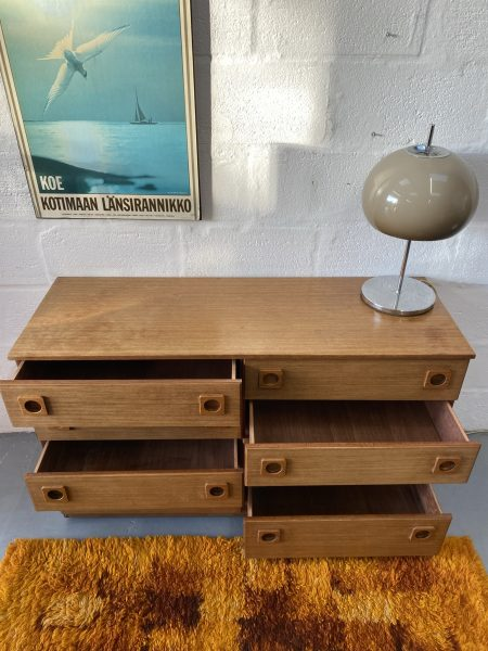 Late 1960s Mid Century Vintage SCHREIBER Double Bank of Drawers Retro