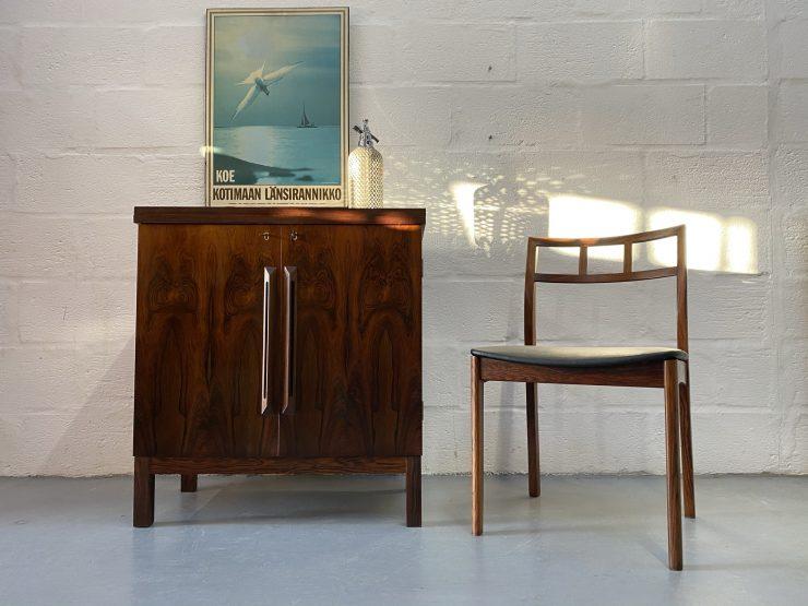 1960s Mid Century Rosewood Bar Cabinet by Torbjørn Afdal for Bruksbo