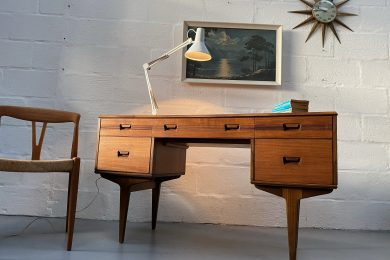 Vintage Early 1960's Teak Desk by Butilux