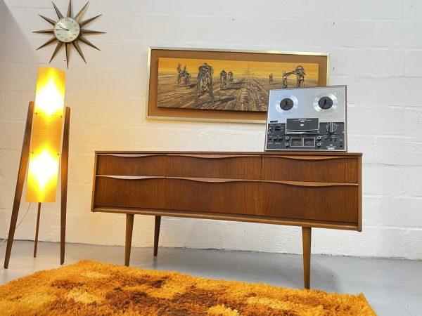 Vintage Mid Century Austinsuite Chest of Drawers / Sideboard