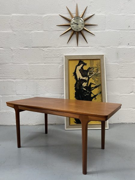 Mid Century A.H Mcintosh Teak Extending Coffee Table