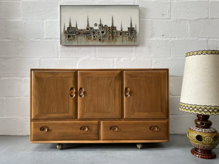 1960s Mid Century Vintage Windsor Sideboard By Ercol 468