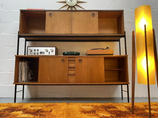Mid Century Avalon Teak Adjustable Sideboard / Wall Unit
