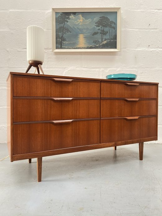 Vintage Mid Century Austinsuite Chest of Six Drawers / Sideboard